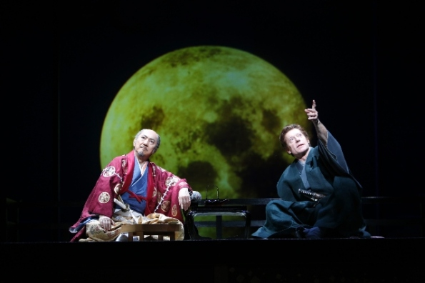 Masachika Ichimura as Ieyasu & Stephen Boxer as Anjin in ANJIN credit Takayuki Abe