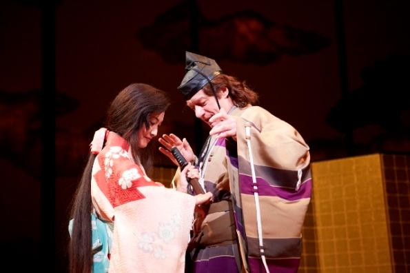 Seiko Sakurada as Oyuki & Stephen Boxer as Anjin in ANJIN credit Takayuki Abe