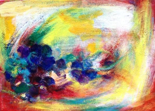 'Summer garden VII' (Acrylic on Canvas) by Hiroko Imada
