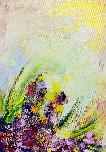 'Summer Garden' (Acrylic on Canvas) by Hiroko Imada