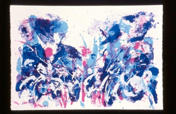 Valse Brillante, Lithograph, 75.0X107.0 cm, May 1996