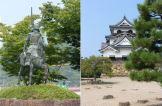Statue of Ii Naomasa outside Hikone Station, Hikone Castle
