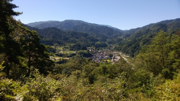 Tsumago from the site of Tsumago Castle ruins