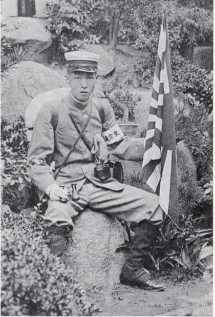 Kidō at a farewell party in Tōkyō in 1904 just before he left for Manchuria where he learnt about the death of Ichikawa Sadanji I http://kidojibutsu.web.fc2.com/contents/archives.html