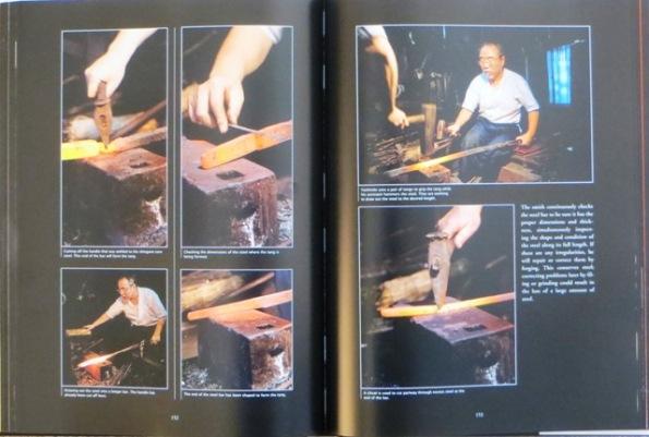Author and swordsmith Yoshindo at work