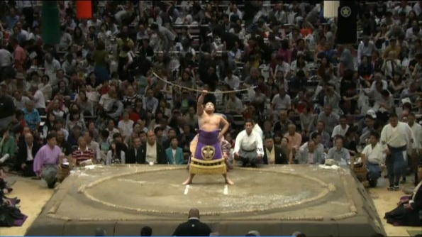 September 2015 Basho Yumitori-shiki bow twirling ceremony (Ustream)