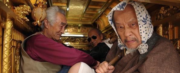Left to right – Kōjūn Ito as Hide, Tōru Shinagawa as Makku, and Ben Hiura as Ichizō