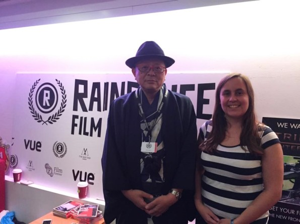 Interviewer Roxy Simons with Akira Osaki