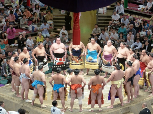 Makuuchi ceremonial entrance – September 2015 Basho