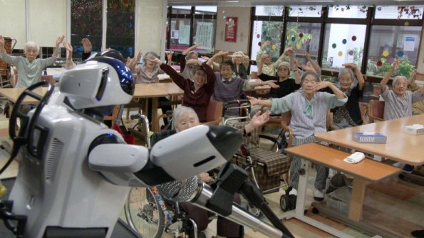 NHK World TV - Robot leads an exercise class for the elderly