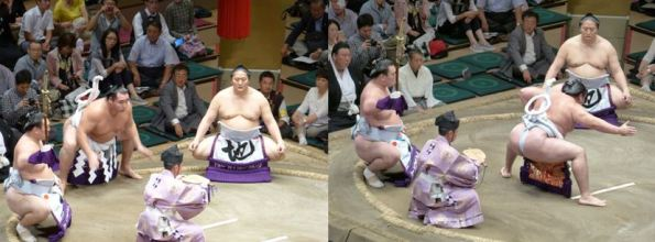 Yokozuna ceremonial entrance – September 2015 Basho