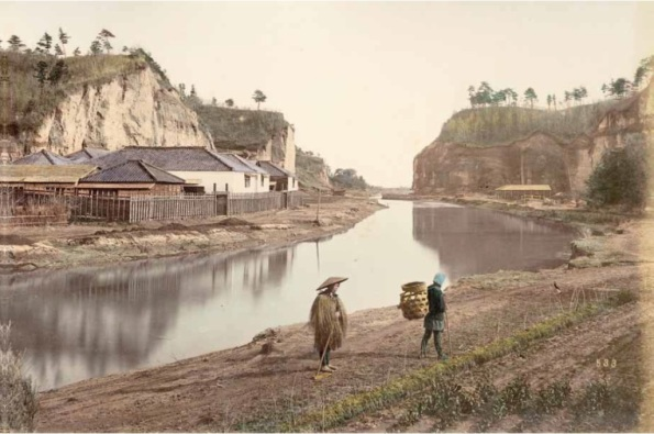 "Kusakabe Kimbei, ""533. Canal. Yokohama,"" ca. 1880,  large-format hand-coloured albumen print. Author's collection."