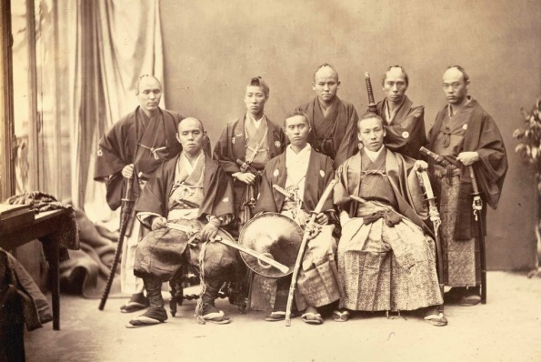 "Nadar, (Gaspar Félix Tournachon, 1820-1910), ""Members of the 1864 Ikeda Mission to France"",  Paris, 1864, large-format albumen print. Old Japan Picture Library."