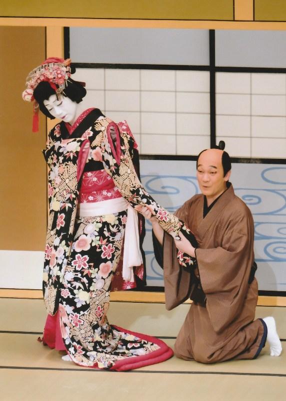 nakamura kazutaro as geisha koito in osome hisamatsu kabukiza dec 2018 resize