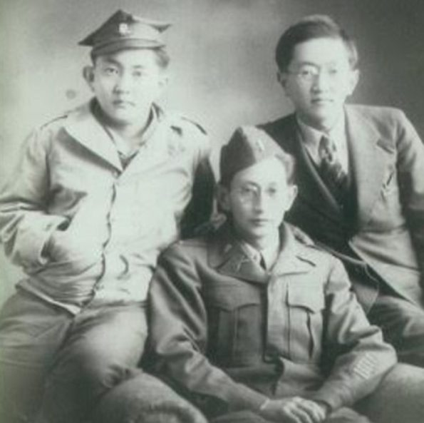 Frank Harry and Pierce after the war courtesy of Harry Fukuhara