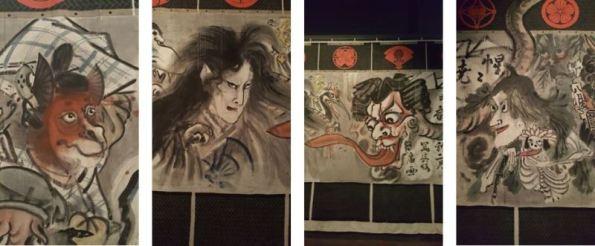 Left to right Bandō Kakitsu I, Onoe Kikugorō V, Ichikawa Danjūrō IX, and Iwai Hanshirō VIII © Tsubouchi Memorial Theatre Museum, Waseda University