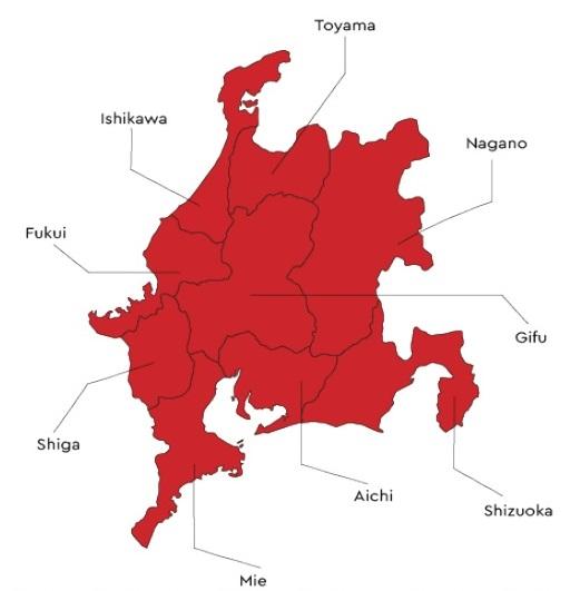 Chubu Map