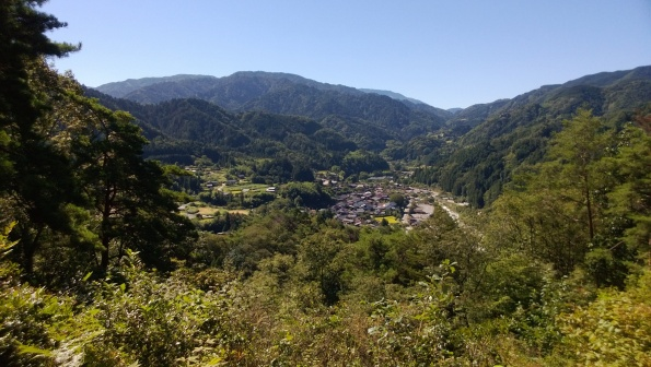 Tsumago Castle view of town