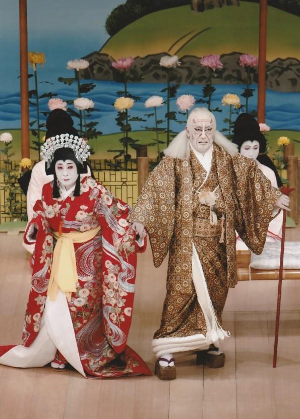 Kikubatake (left) Nakamura Kaishun as Princess Minazuru (right) Nakamura Shikan as Yoshioka Kiichi Hogen